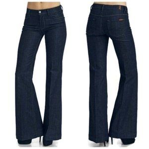 7 For All Mankind Ginger Flare Jeans Mid Rise Dark